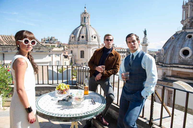 ALICIA VIKANDER, ARMIE HAMMER, HENRY CAVILL in film The Man From U.N.C.L.E : movie directed by Guy Ritchie starring Henry Cavill, Armie Hammer, Hugh Grant; Spy; Espionnage; Action; film; cinema; movie; american; Agents très spéciaux - Code U.N.C.L.E; 2015 NOTE: this is a PR photo. SUNSETBOX does not claim any Copyright or License in the attached material. Fees charged by SUNSETBOX are for SUNSETBOX's services only, and do not, nor are they intended to, convey to the user any ownership of Copyright or License in the material. By publishing this material, the user expressly agrees to indemnify and to hold SUNSETBOX harmless from any claims, demands, or causes of action arising out of or connected in any way with user's publication of the material